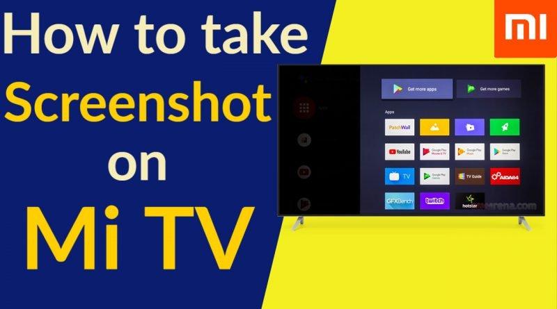 how to take screen shot on mi tv
