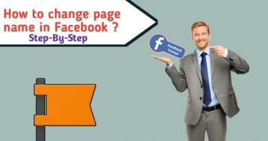 how to change page name in Facebook