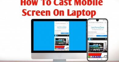 How to cast mobile screen on laptop