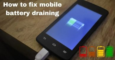 how to fix mobile battery draining