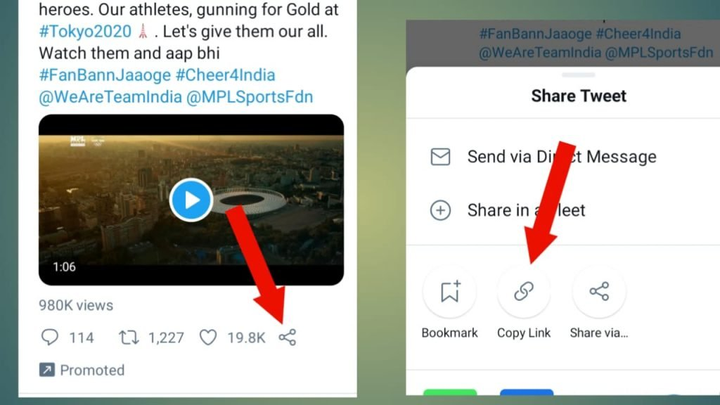 How to download Twitter video in Mobile