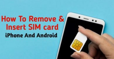 How to remove & insert SIM card in iPhone or Android