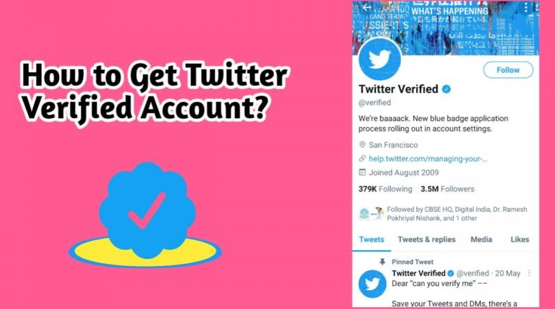 How to get twitter verified account