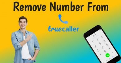 How to remove number from truecaller