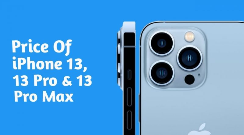 What is the price of iphone 13 pro max?
