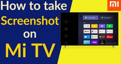 how to take screen shot on mi tv