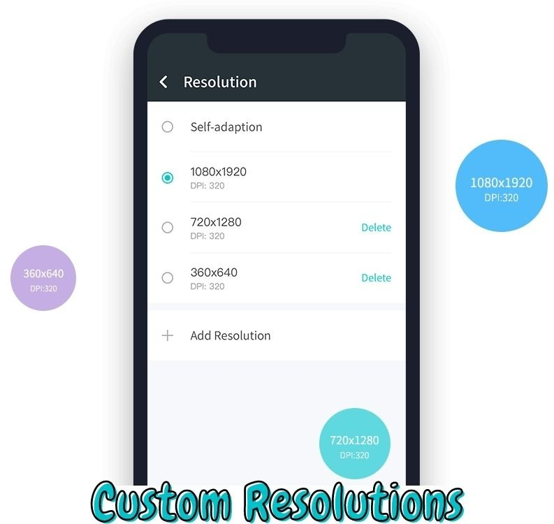 Custom Resolutions