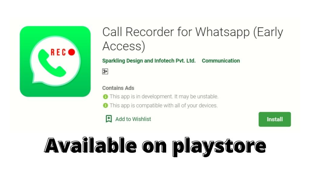 Call Recording for WhatsApp