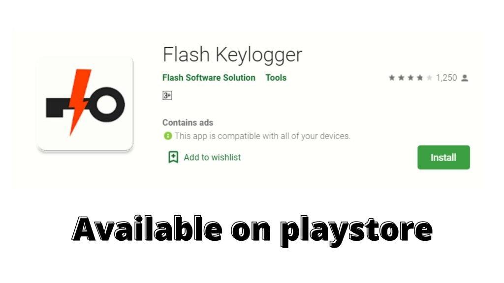 Flash key logger app