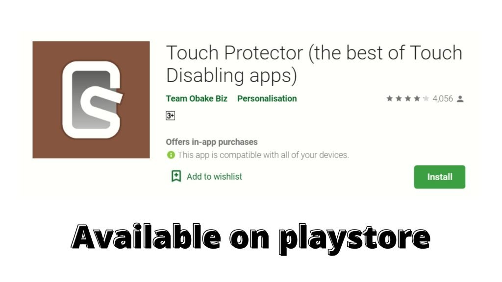 Touch Protector app