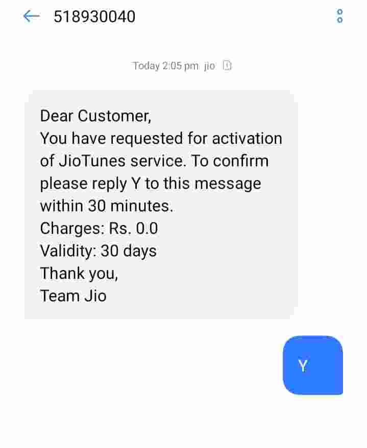 How to set Jio caller tune?