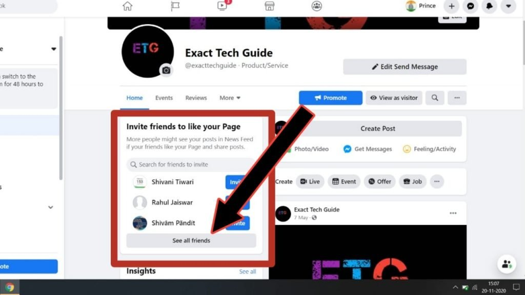How to invite people to like our facebook page?