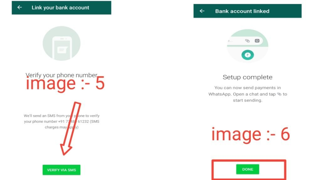 How to add bank details on WhatsApp payment?