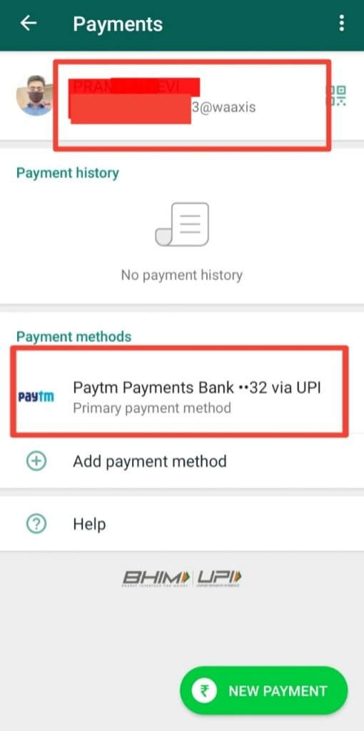 How to set up whatsapp payment